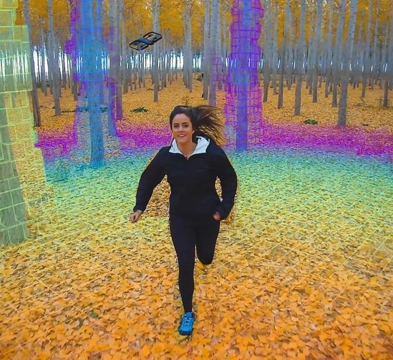 Lesní prostředí, tak jak ho vidí Skydio R1