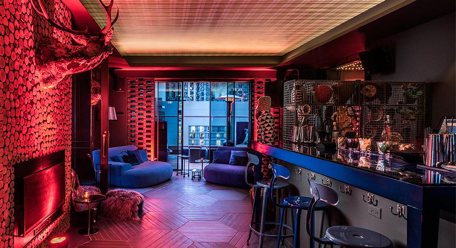 Prostory Virgin Hotelu v Chicagu