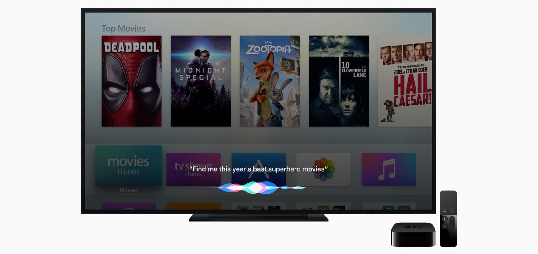 Siri je vedle iOS, macOS a watchOS dostupná i na Apple TV v rámci tvOS