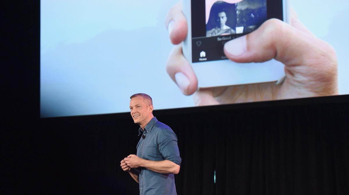 Gustav Söderström, šéf výzkumu a vývoje ve Spotify, během konference Spotify for Free