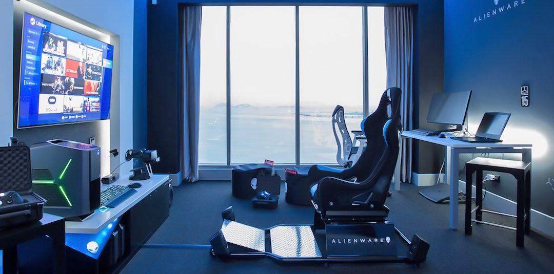 Síť hotelů Hilton vybavila pokoj v Panamě unikátním herním systémem od Alienware