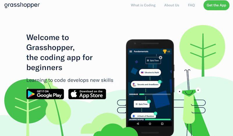 Google spouští hru Grasshopper pro výuku základů programování v JavaScriptu