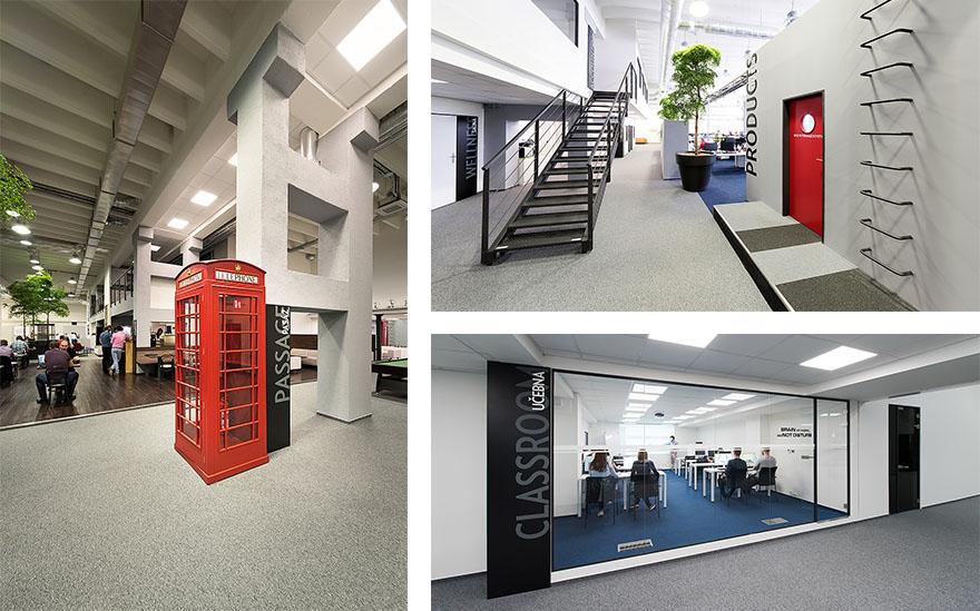 Stávající prostory Alzy v Hall Office Parku