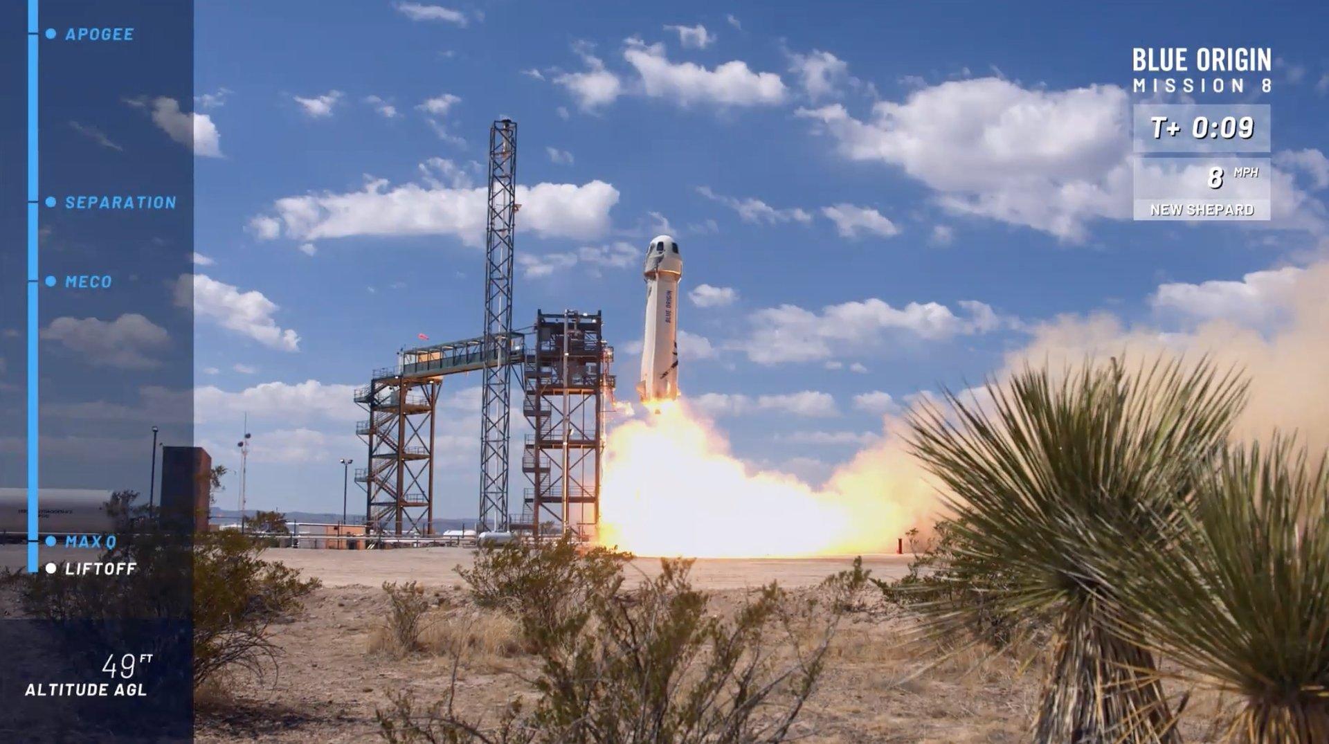 Start rakety při poslední misi