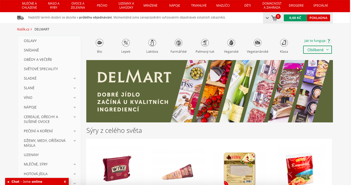 Sortiment značky Delmart na Kosik.cz