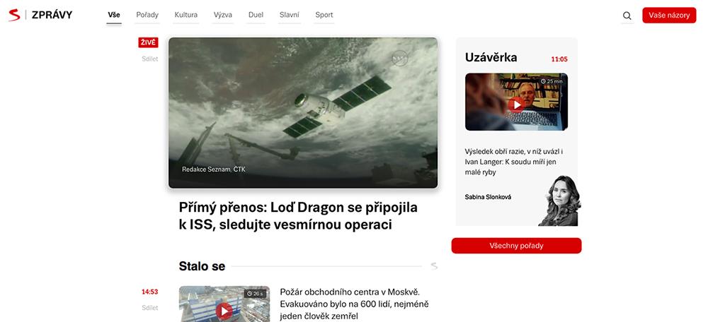 Seznam.cz představil úplně novou podobu svého zpravodajského portálu Seznam Zprávy