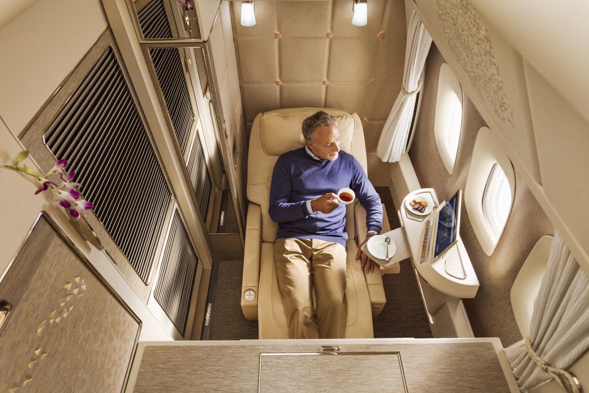 První třída v jednom z letadel Emirates