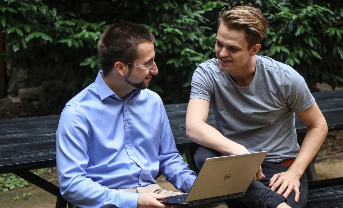 Daniel Vach a Radek Hušek, zakladatelé startupu SENS
