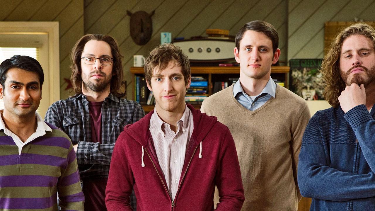 Pětice hlavních představitelů ze seriálu HBO Silicon Valley