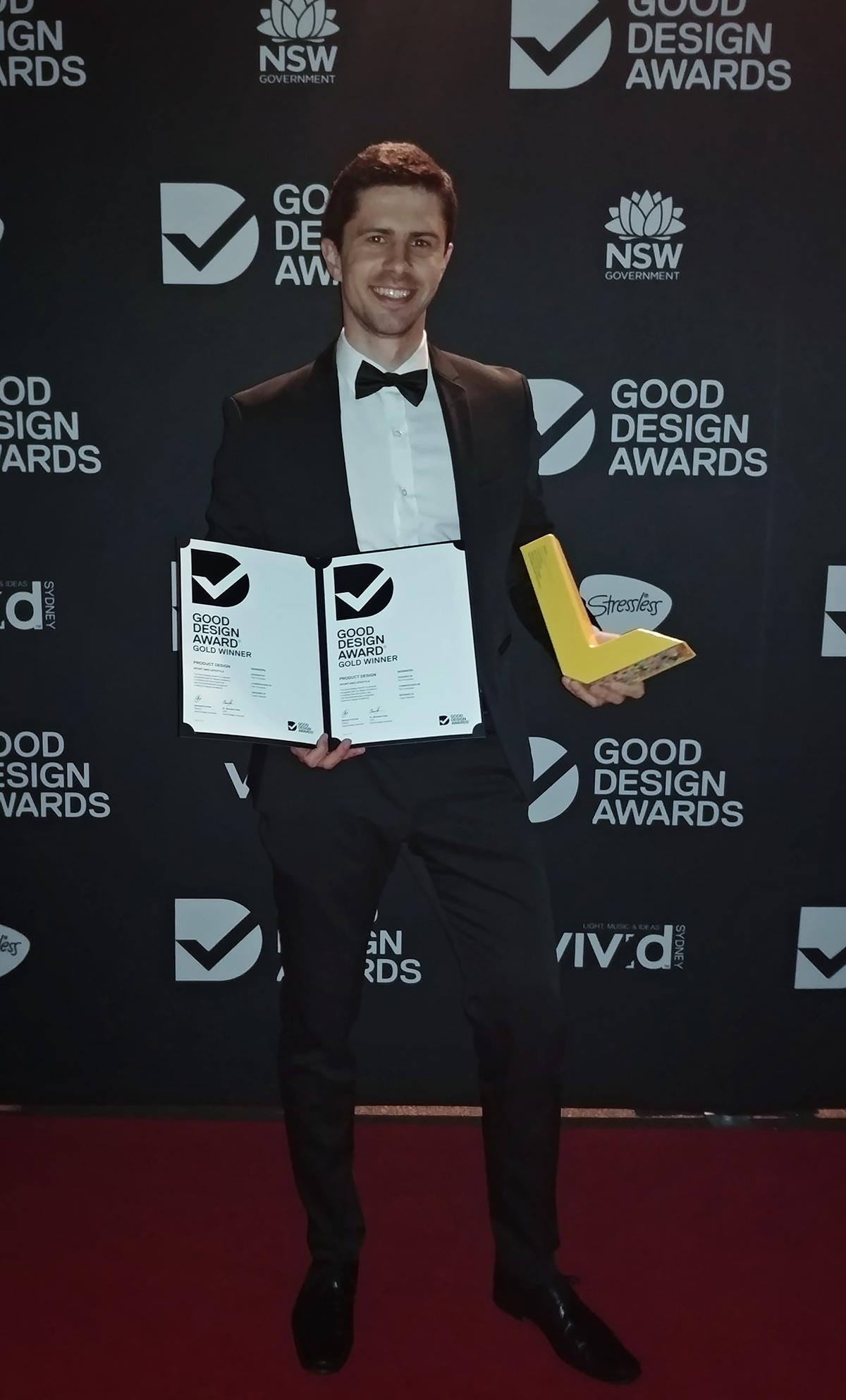 Zakladatel Skinners Petr Procházka na soutěži v Sydney