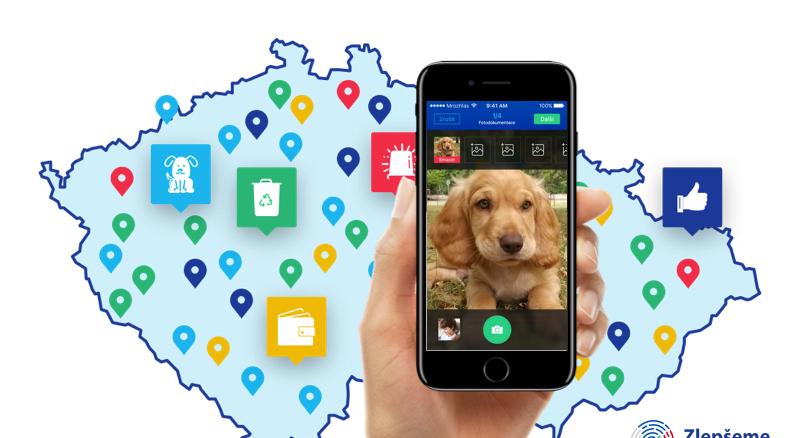 Nová platforma Zlepšeme Česko umožní lidem řešit komunální problémy přes mobilní telefon
