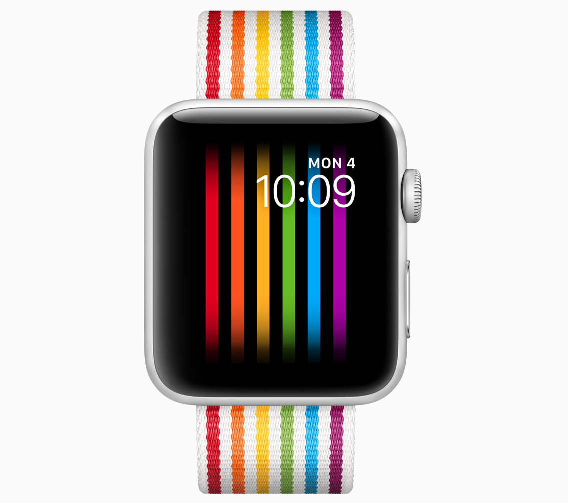 Nový ciferník a pásek symbolizující pochod Pride