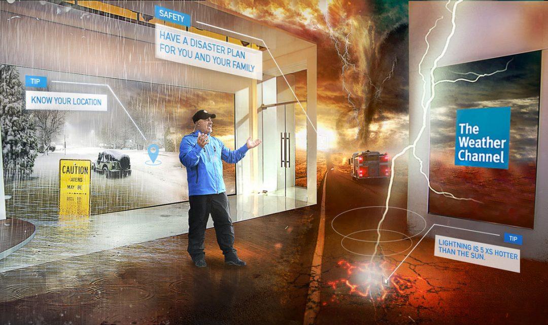 Americká stanice The Weather Channel ukázala, jak vypadá předpověd počasí v rozšířené realitě