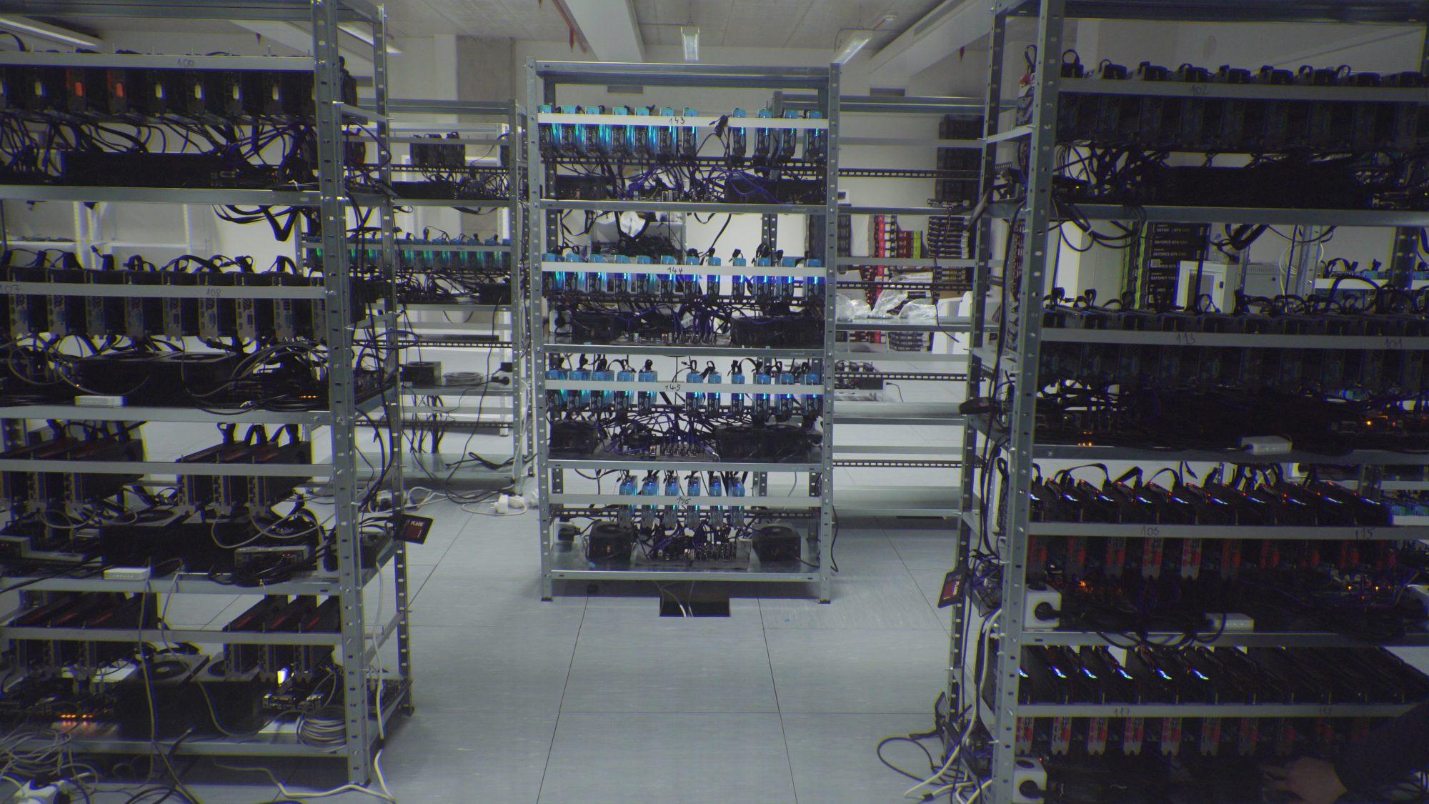 Část showroomu, který vidí zákazníci po vstupu do kanceláří Future Mining
