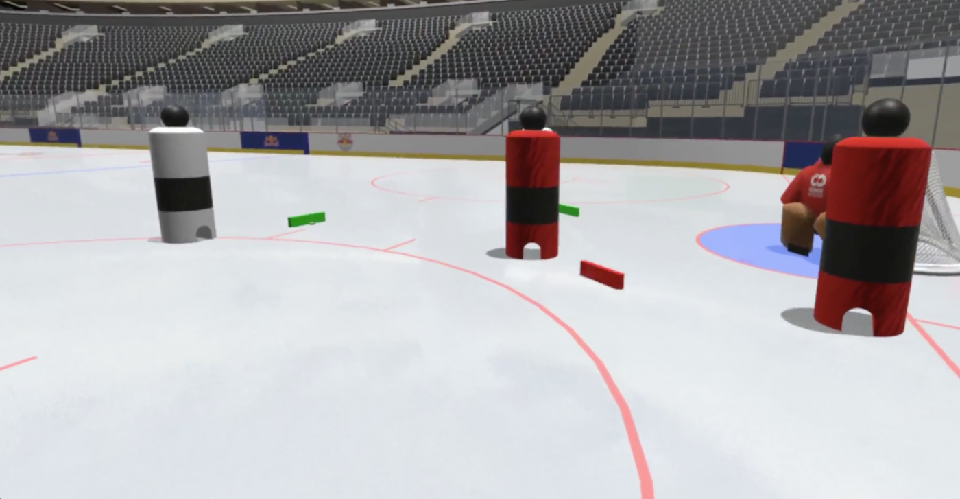 Náhled z virtuálního hokejového trenažeru SenseArena