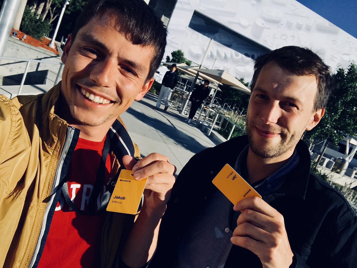 Jakub Kašpar a Honza Remeš z STRV na konferenci WWDC 2018