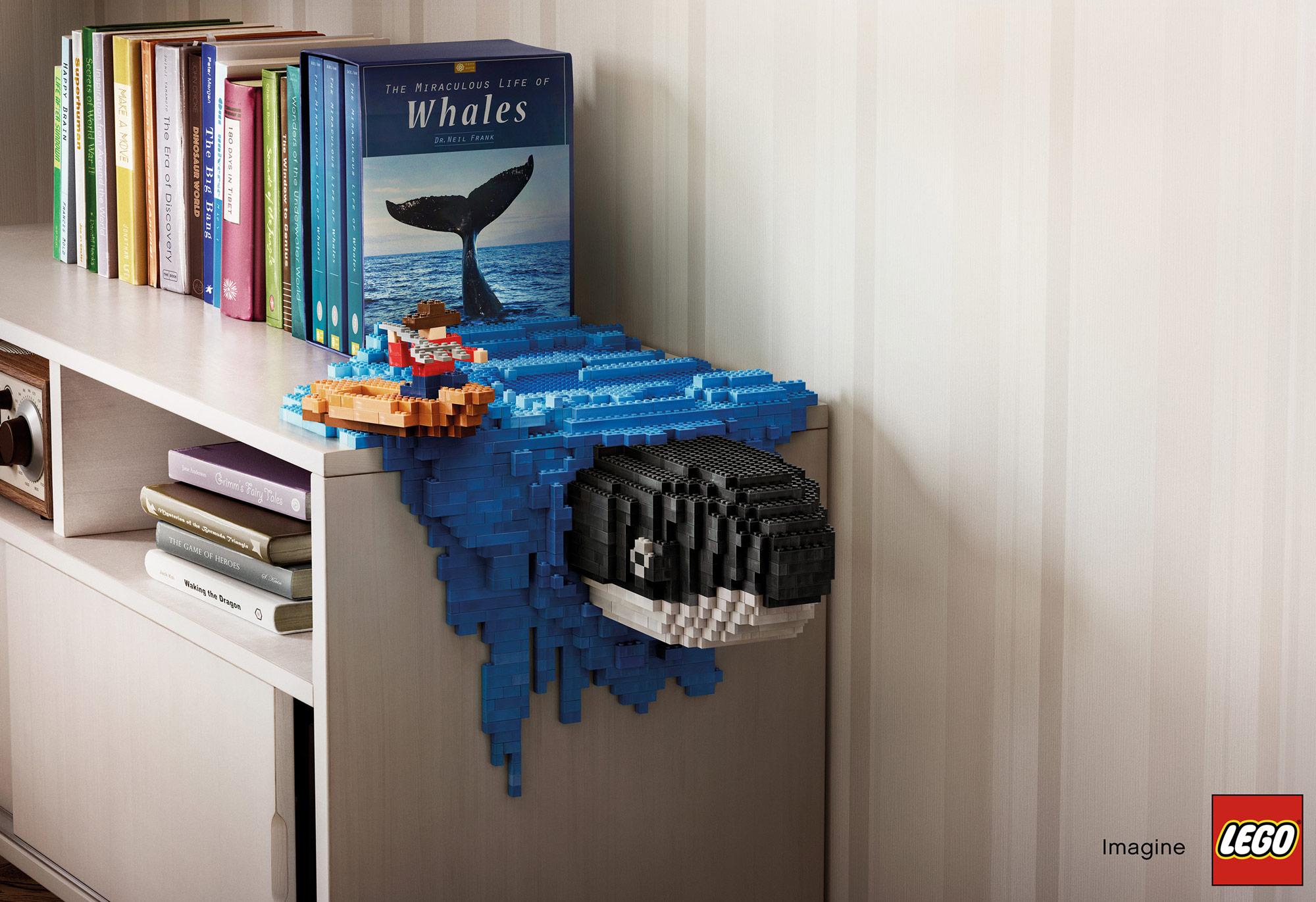 Velryba, která vyplouvá z knihy o velrybářích