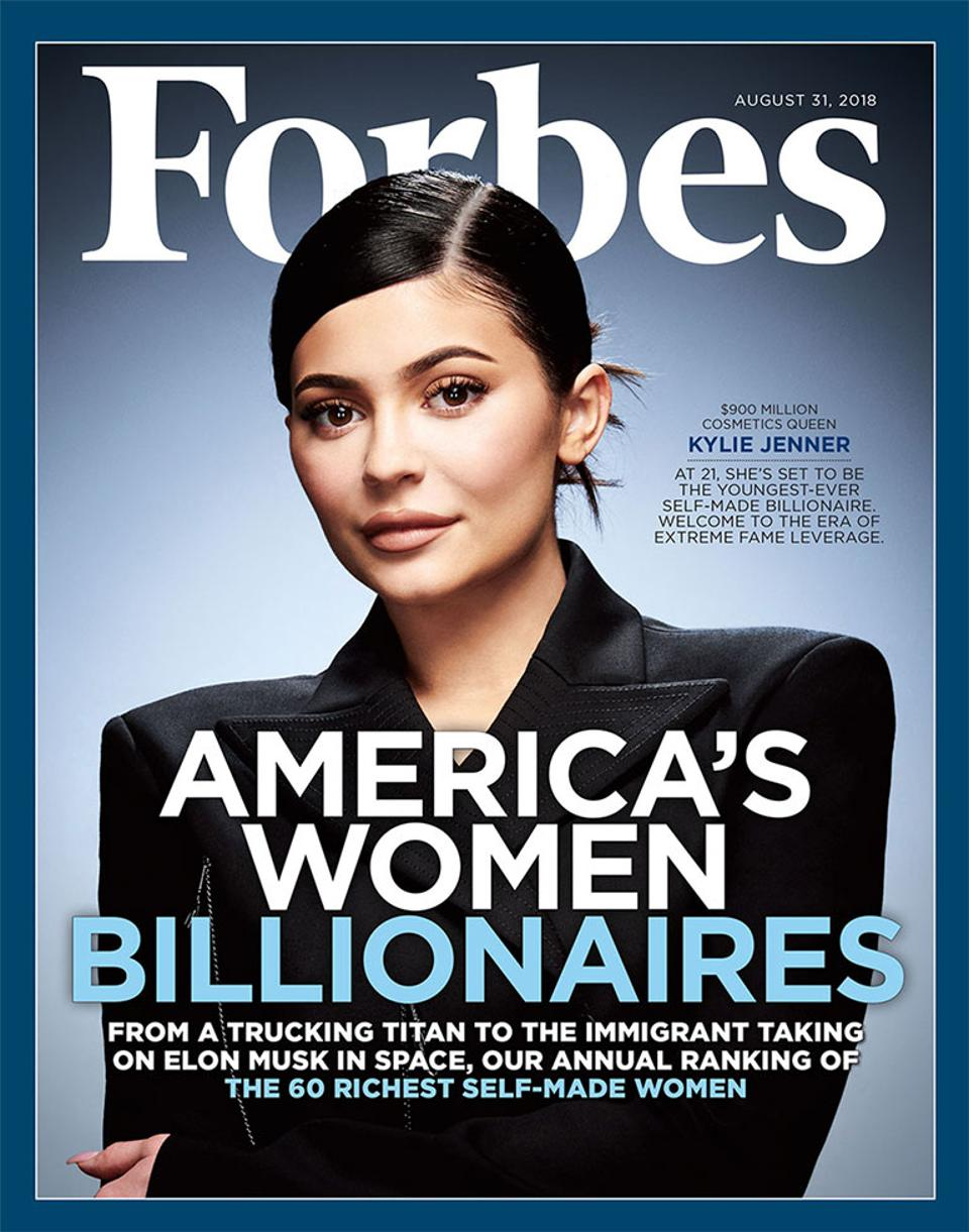 Kylie Jenner na obálce červencového vydání amerického Forbes