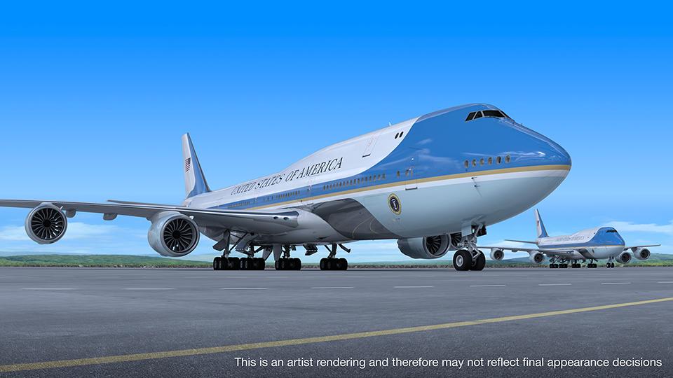 Koncept nového Boeingu747-8, který bude sloužit jako nastávající Air Force One