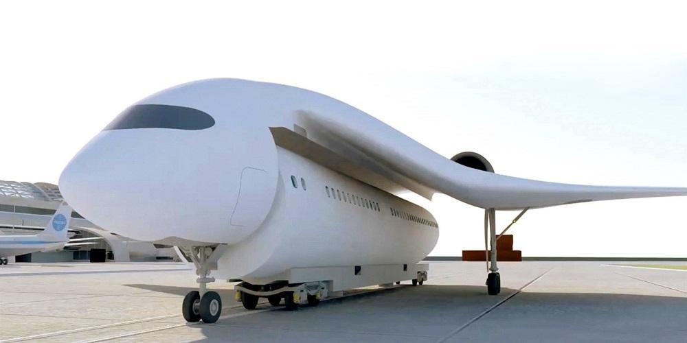 """Francouzi navrhli """"létající vlak"""", který chce spojit křídla s oddělitelnou kapslí pro pasažéry"""