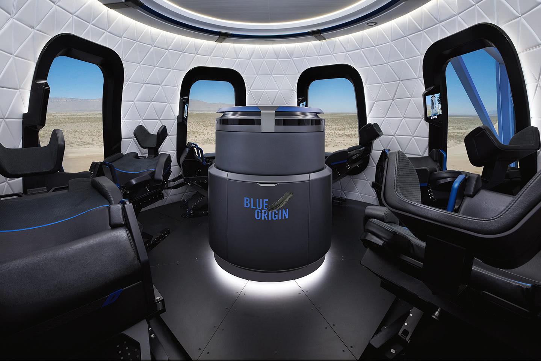 Interiér modulu pro lidskou posádku