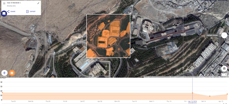 Na první pohled obyčejné snímky analyzují škody po náletech v Homsu a Damašku