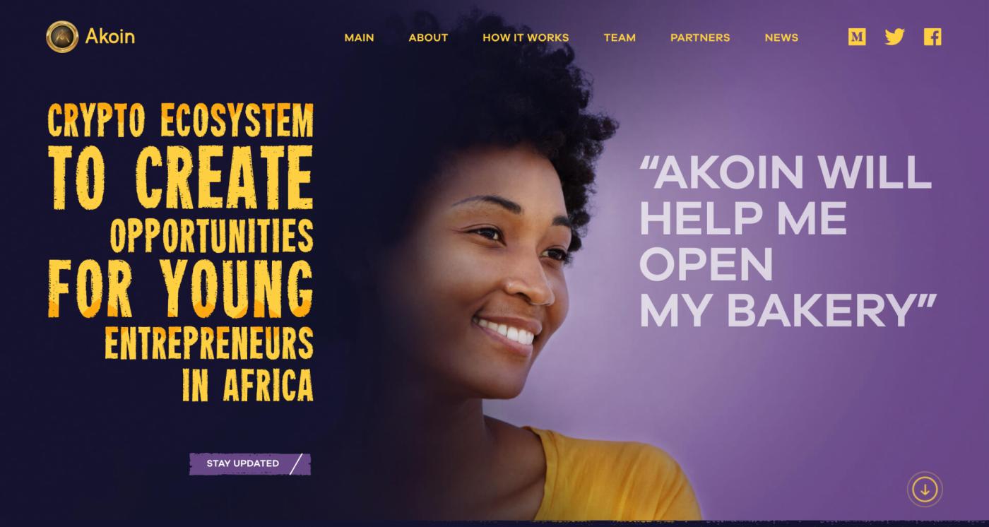 Oficiální web s informacemi ohledně kryptoměny a hnutí Akoin.
