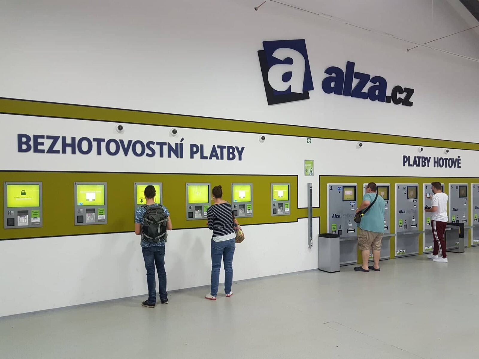 Jedna z několika desítek výdejen Alza.cz