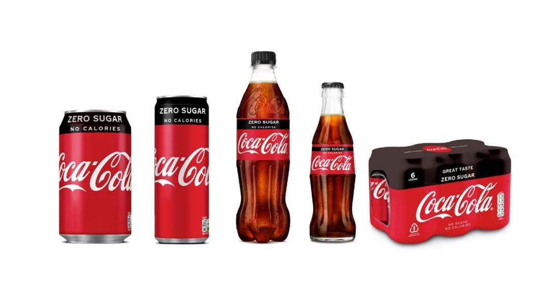 Coca-Cola sjednocuje balení varianty Zero s klasickou Coca-Colou
