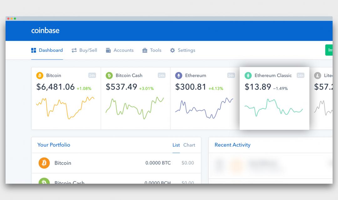 Kryptoměnová směnárna Coinbase přidala na svou platformu kryptoměnu Ethereum Classic