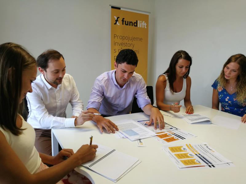 CEO Fundliftu Radek Musil se svým týmem