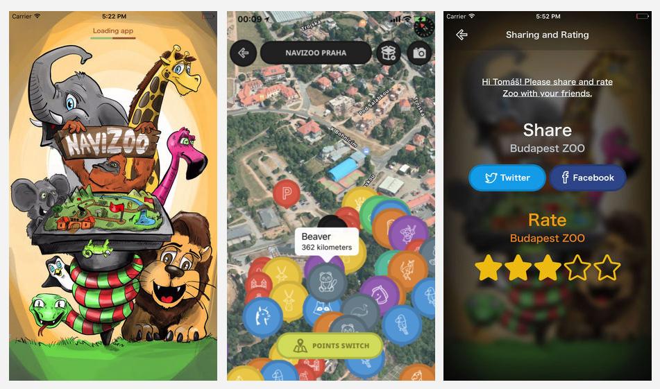 Náhled aplikace NaviZoo