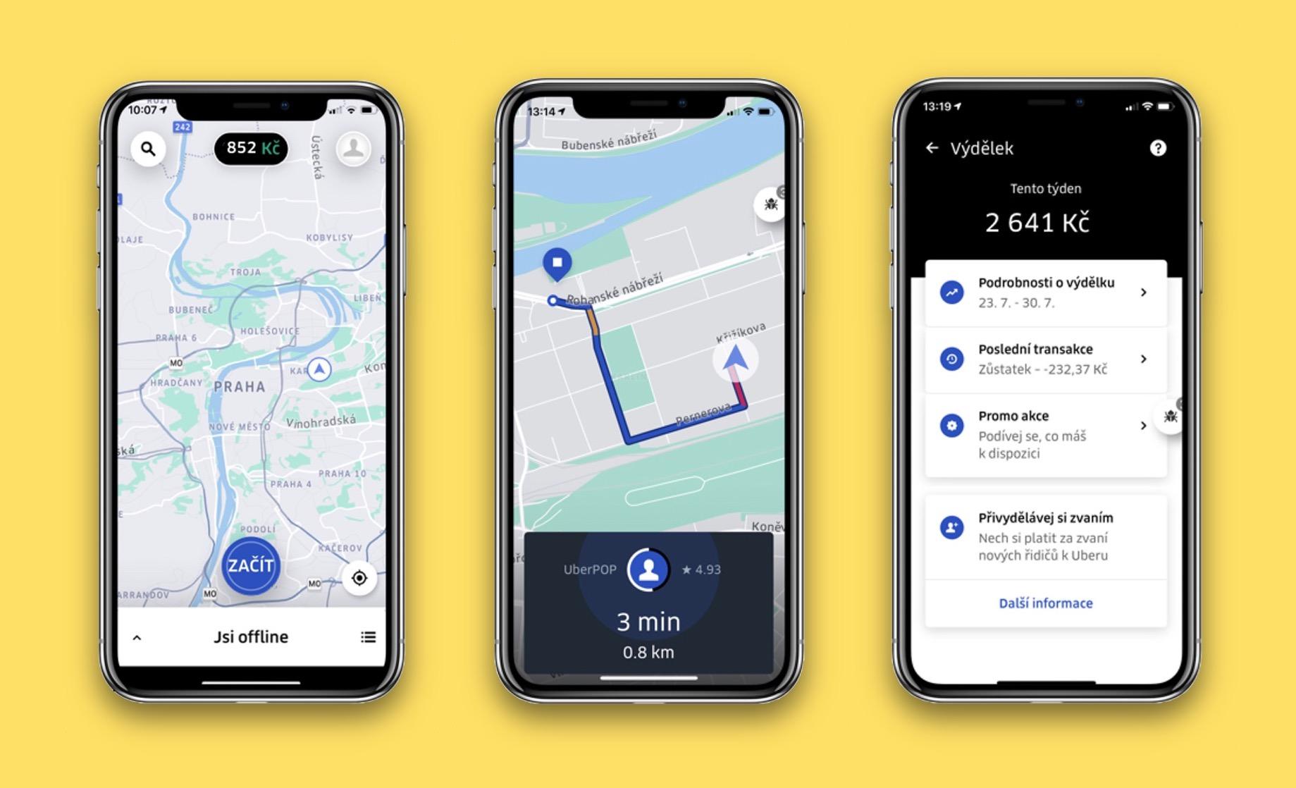 Nová aplikace Uber Driver