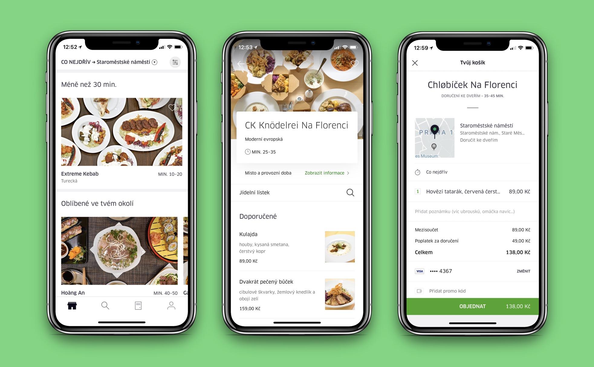 Služba na food delivery od Uberu s názvem Uber Eats