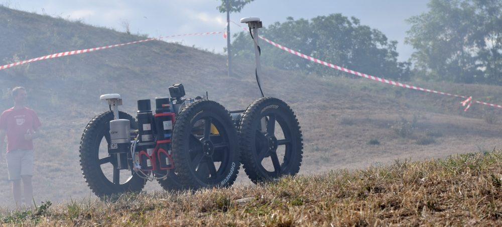 Brněnské VUT vytvořilo robota, který bez lidské pomoci zmapuje krajinu zamořenou radiací