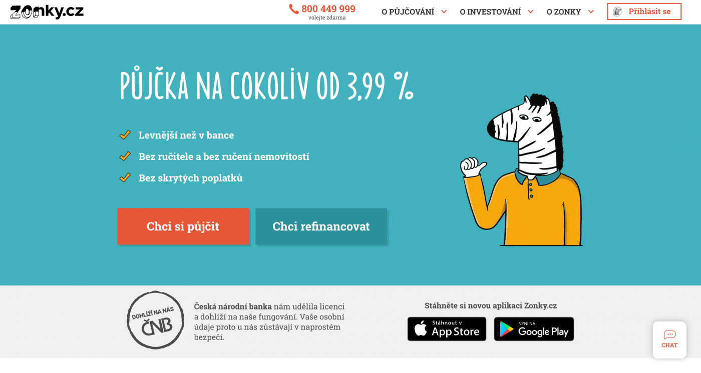 Jeden z projektů Creative Docku Zonky.cz