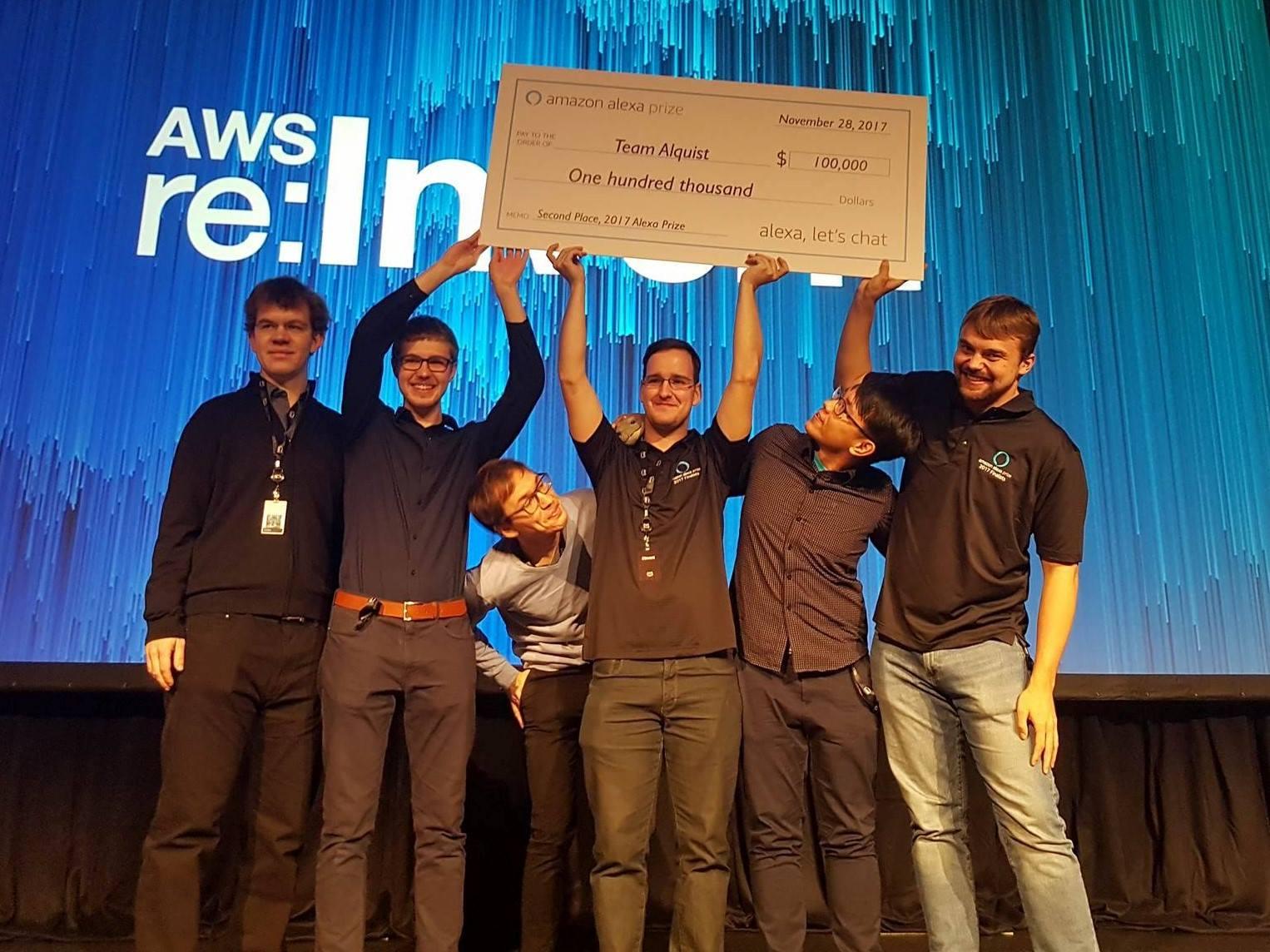 Alquist obsadil minulý rok druhé místo a obdržel 100 tisíc dolarů
