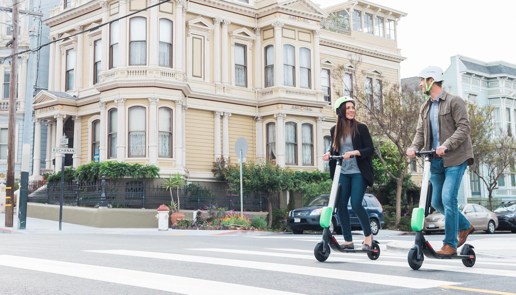 Elektrické koloběžky Lime prozatím v San Franciscu končí