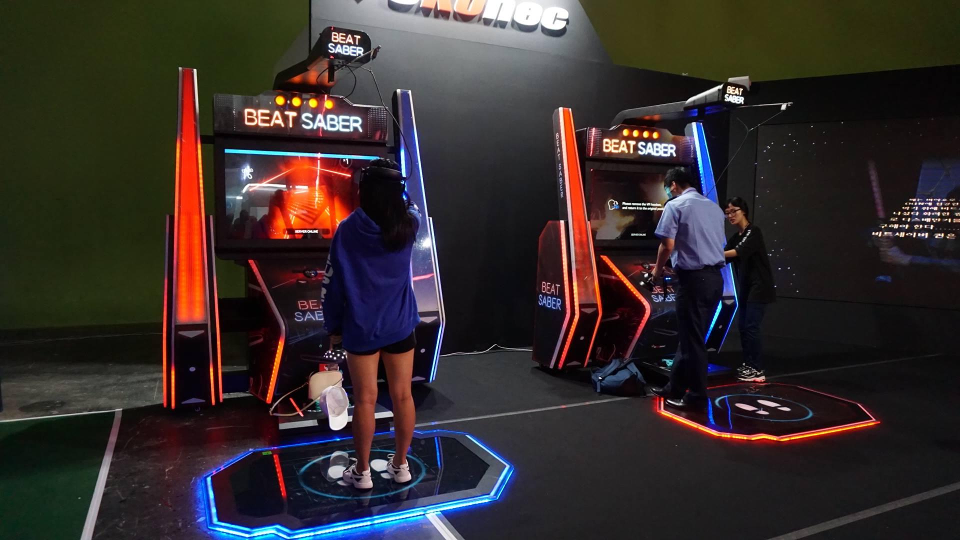Arkádové automaty Beat Saber na korejském VR festivalu