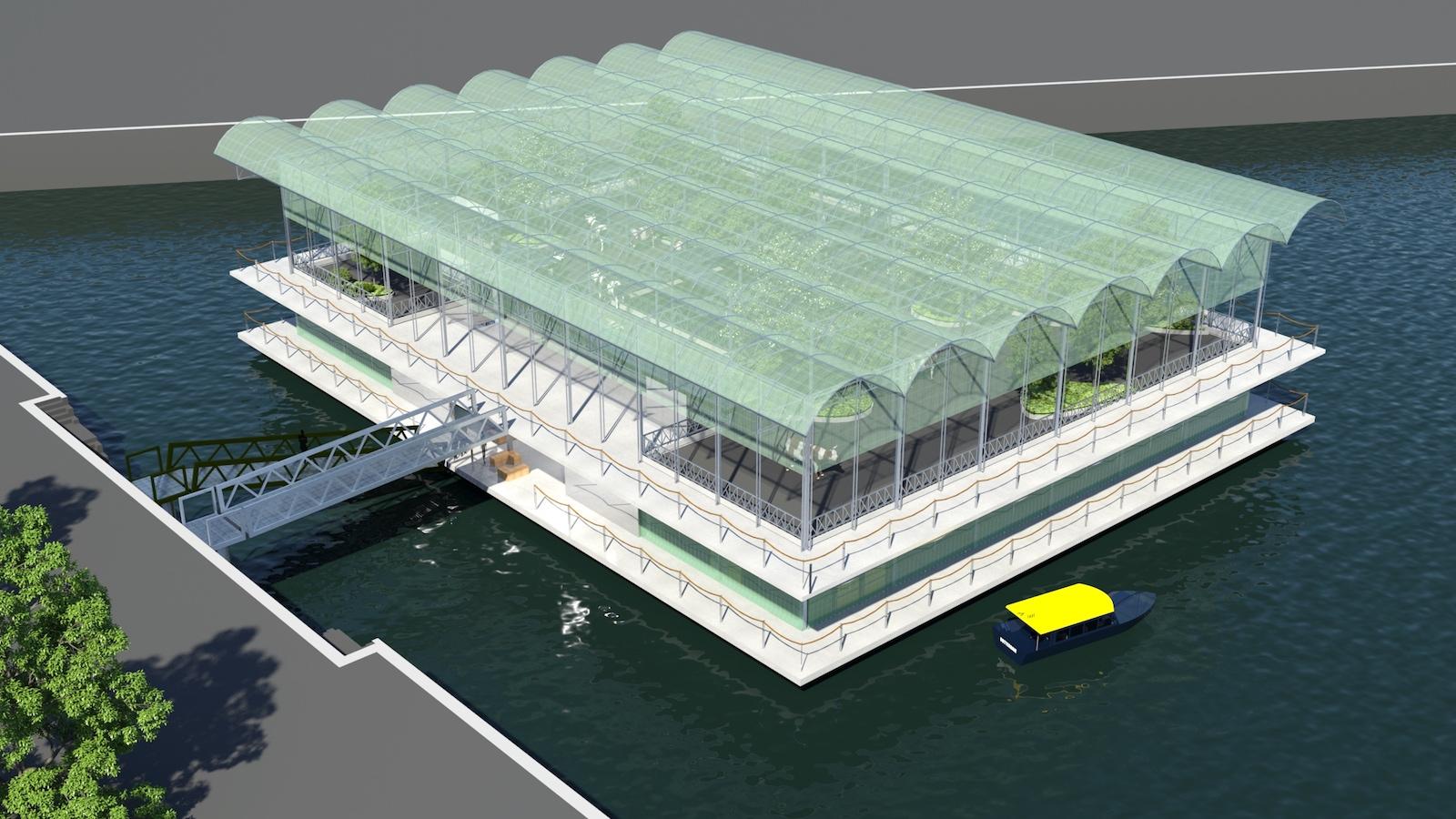 První plovoucí farma vyroste v přístavu v Rotterdamu