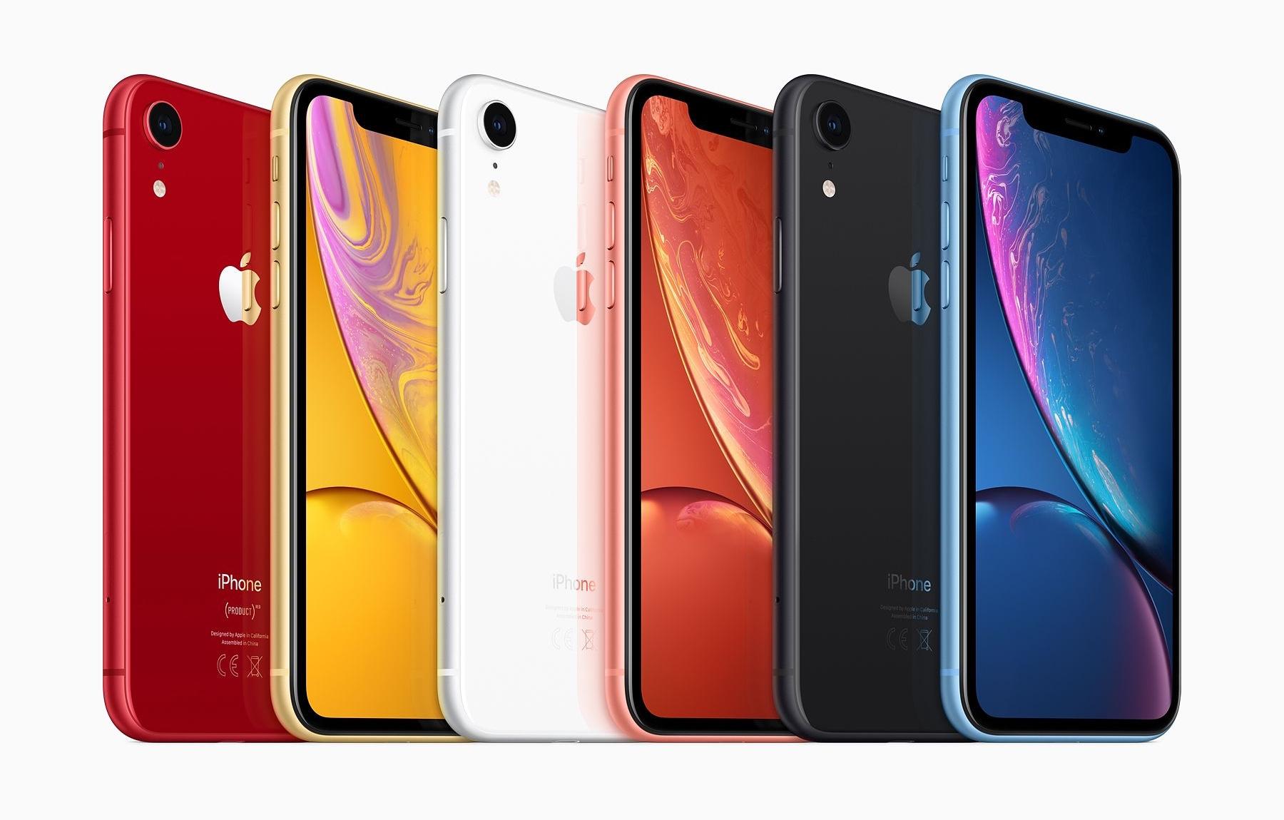 iPhone XR přichází v šesti barvách
