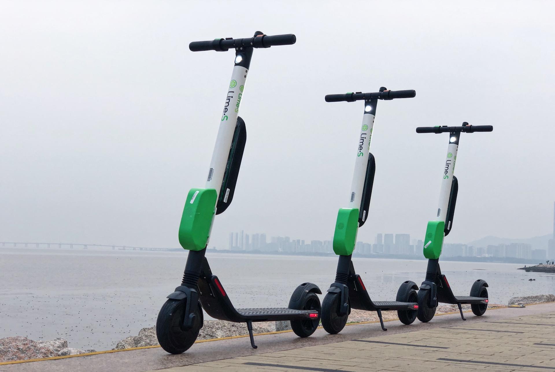 Elektrické koloběžky Lime
