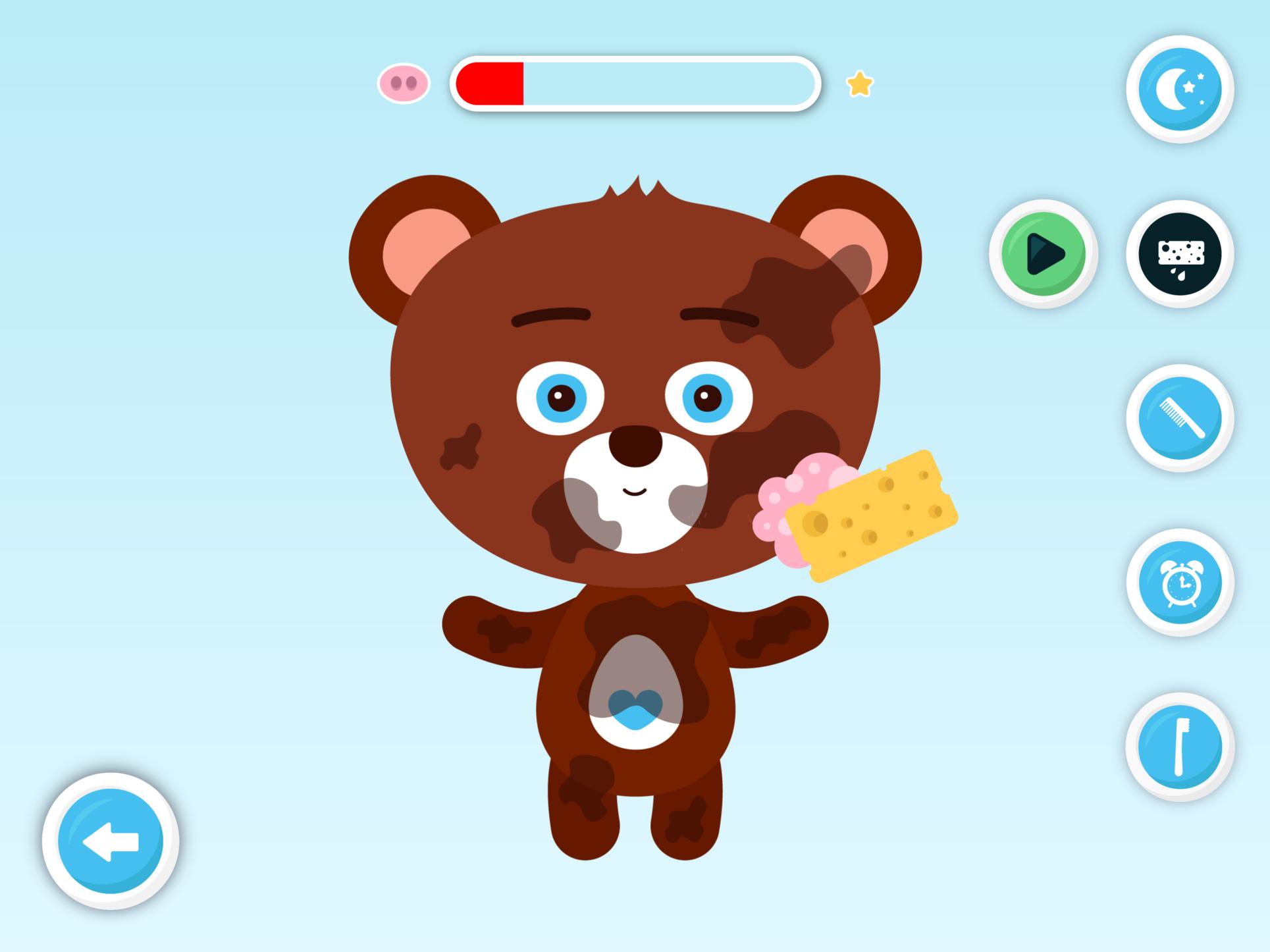 Náhled z aplikace Medvěd pro Centrum pro dětský sluch Tamtam