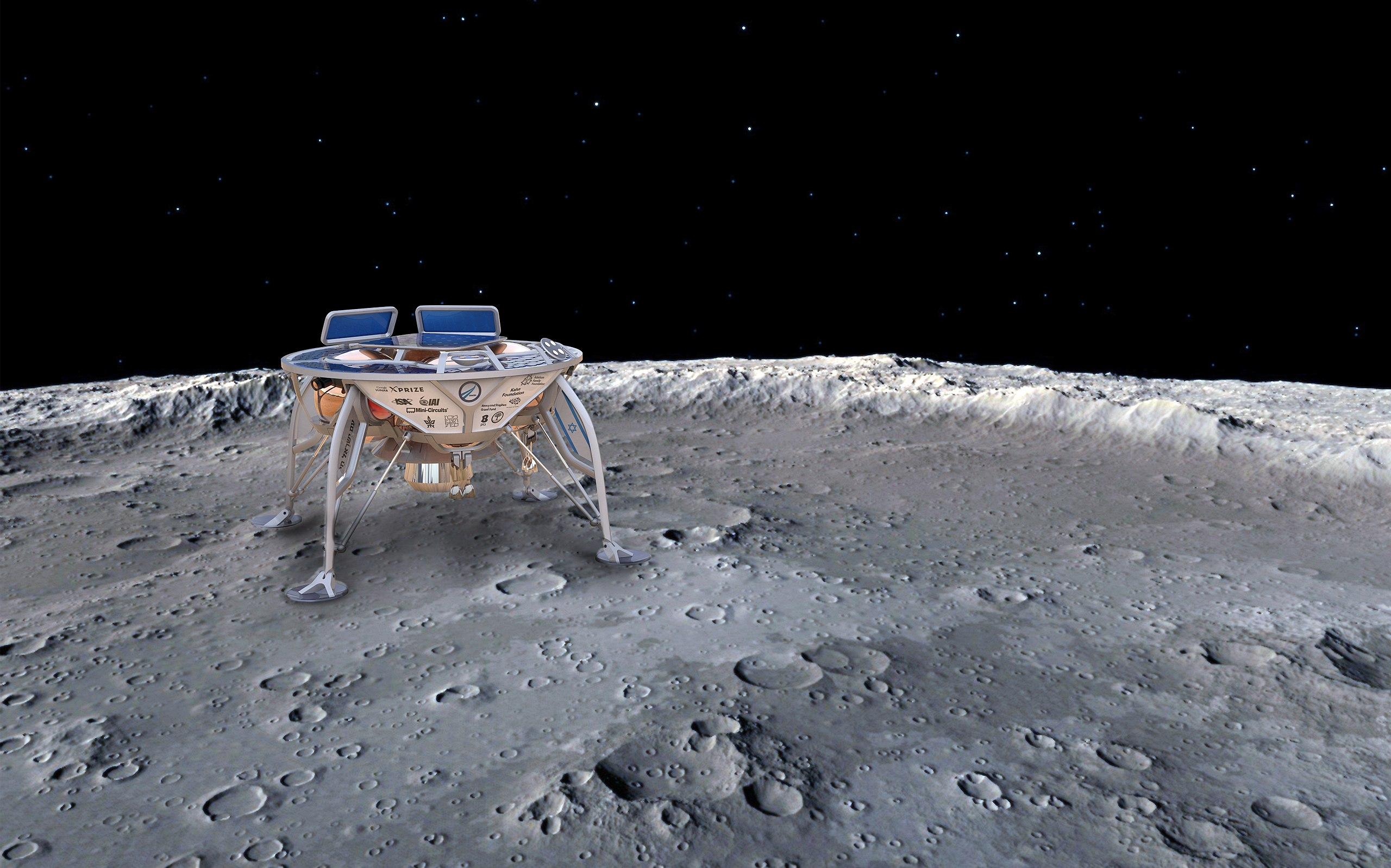 Na Měsíci chce SpaceIL přistát 13. února 2019