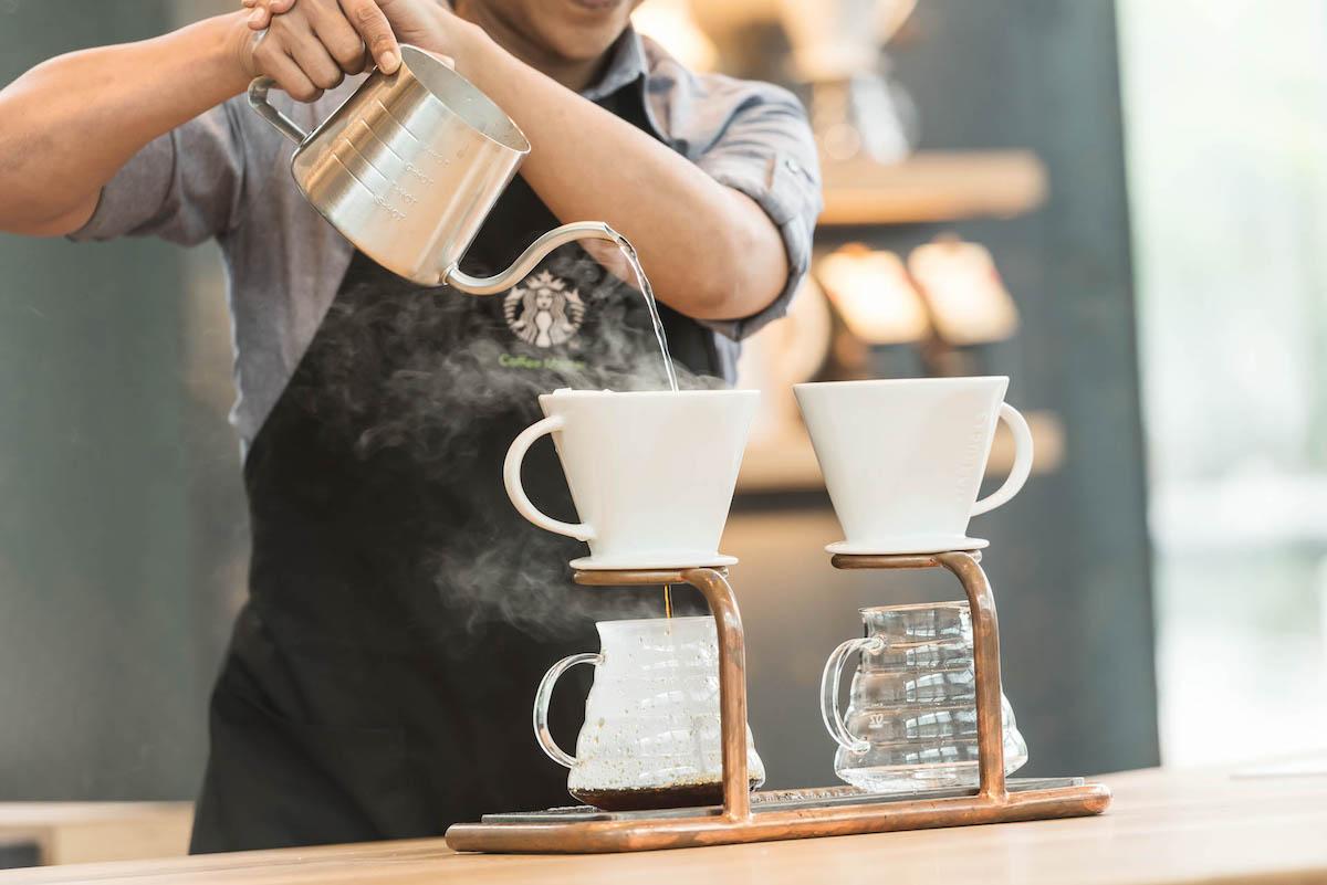 Starbucks Reserve nabízí také alternativní přípravu kávy