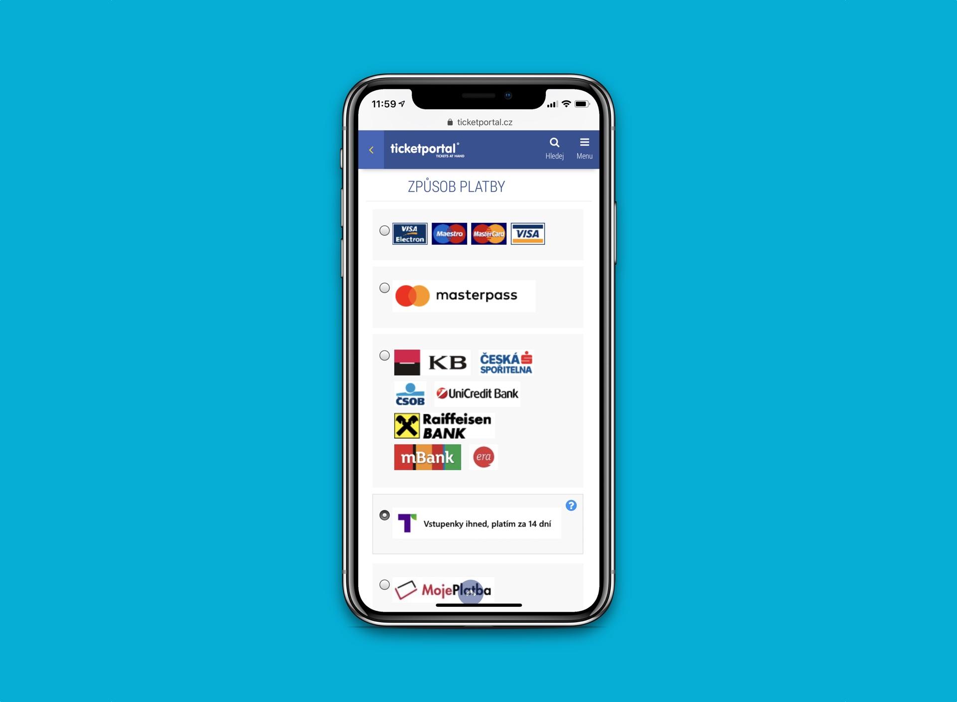 Na mobilním webu Ticketportalu lze nově nakupovat přes Twisto