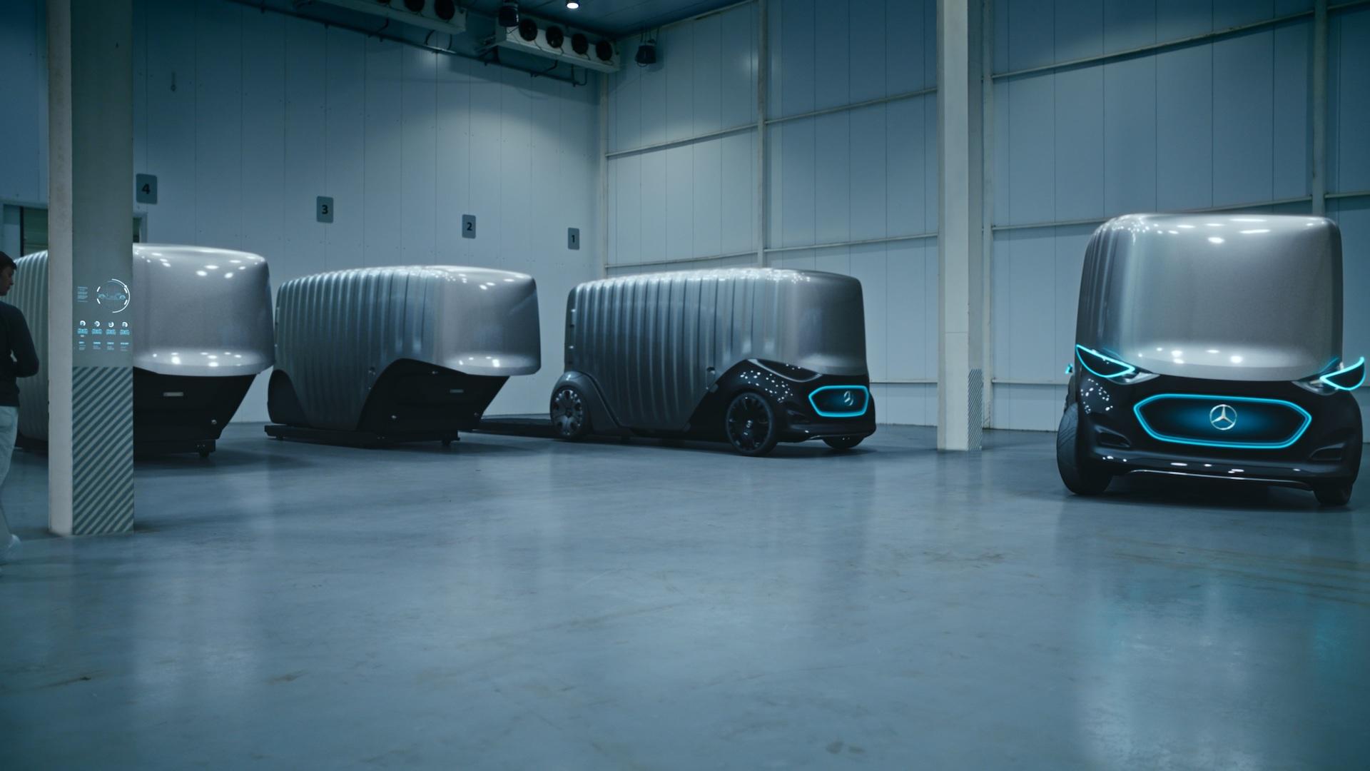 Modulární koncept elektrických autonomních vozidel Vision Urbanetic