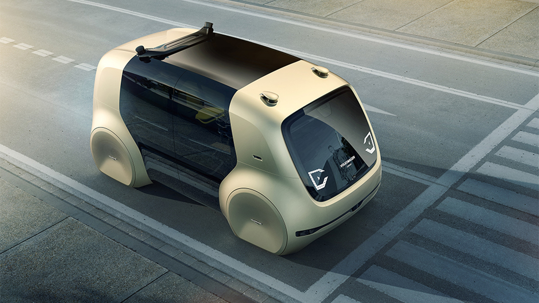 Koncept samořiditelného shuttle vozu Volkswagen Cedric