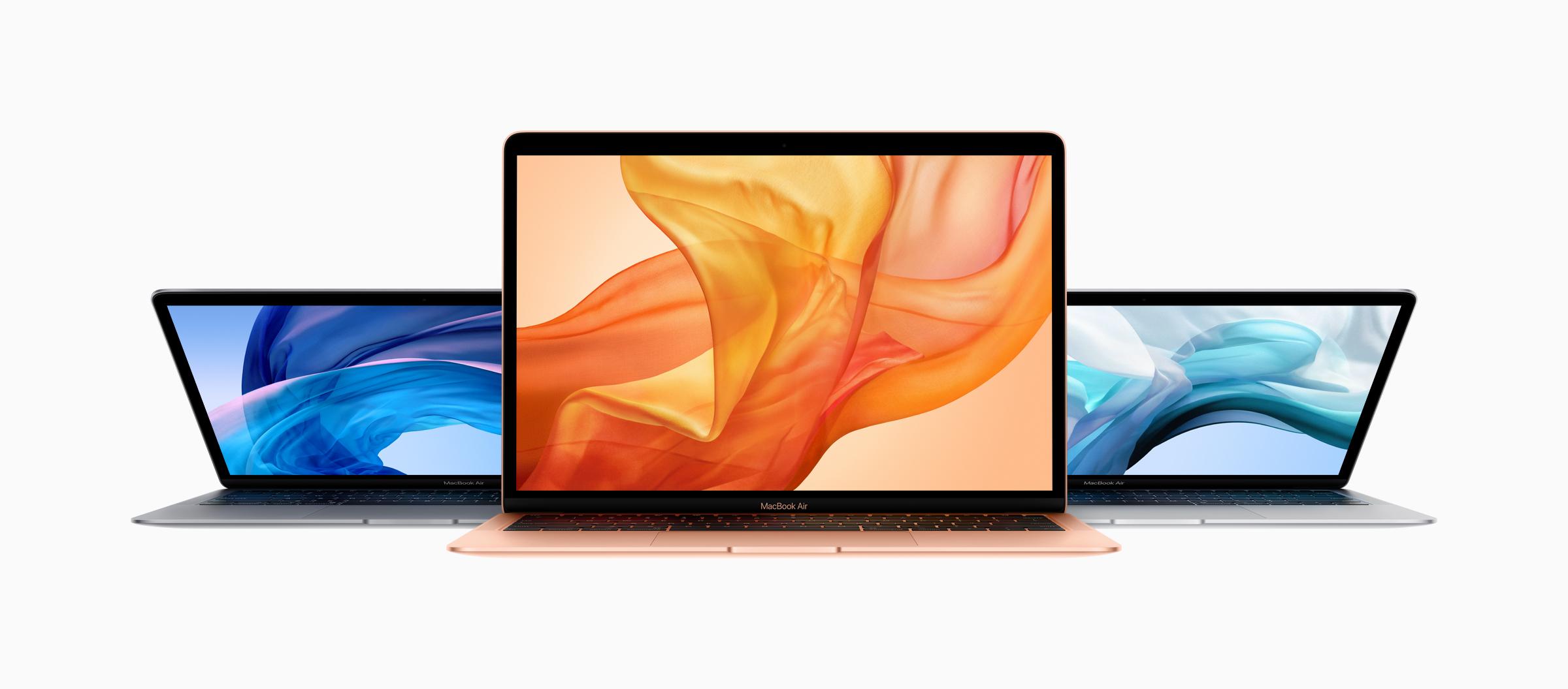 Tři nové barevné varianty MacBooku Air s Retina displejem