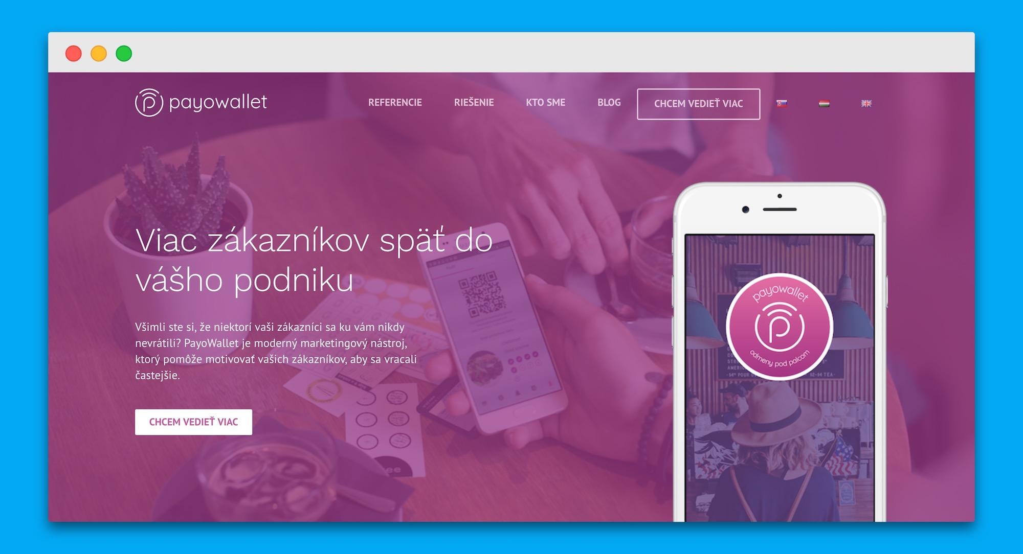 Slovenský startup PayoWallet